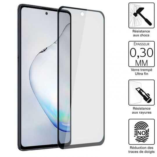 Vitre protection / Verre trempé 3D pour Samsung Galaxy Note 10 Lite