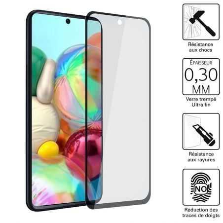 Vitre protection / Verre trempé 3D pour Samsung Galaxy A71