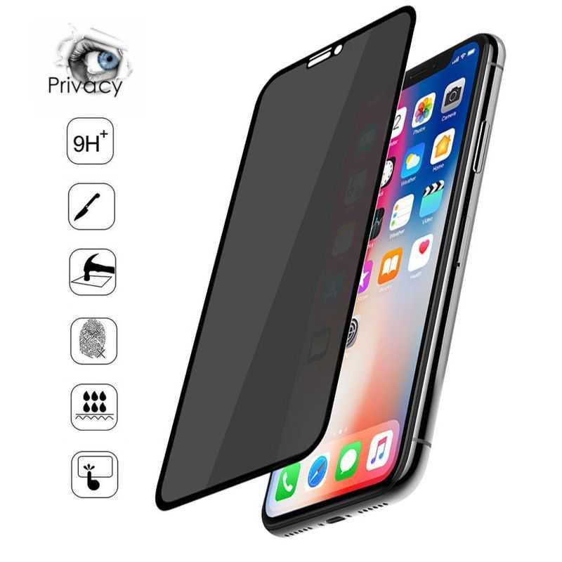 Verre trempé / Vitre de protection privée anti espion pour Iphone 11 Pro Max (6,5)