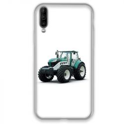 Coque pour Wiko View 4 Agriculture Tracteur Blanc