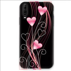 Coque pour Wiko View 4 Coeur rose Montant