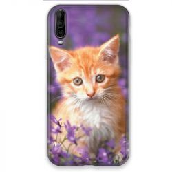 Coque pour Wiko View 4 Chat Violet