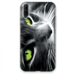 Coque pour Wiko View 4 Chat Vert