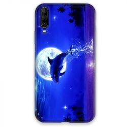 Coque pour Wiko View 4 Dauphin lune