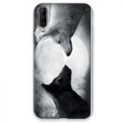Coque pour Wiko View 4 Loup Duo