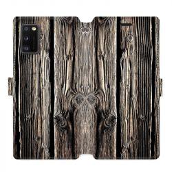 Housse cuir portefeuille pour Samsung Galaxy A41 Texture bois