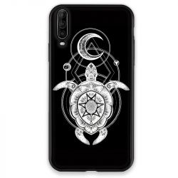 Coque pour Wiko View 4 Animaux Maori Tortue noir