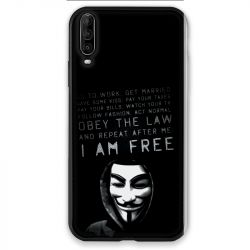 Coque pour Wiko View 4 Anonymous I am free