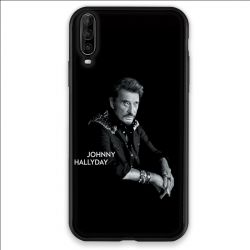 Coque pour Wiko View 4 Johnny Hallyday Noir