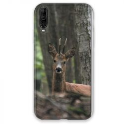Coque pour Wiko View 4 chasse chevreuil Bois