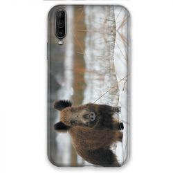 Coque pour Wiko View 4 chasse sanglier Neige