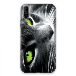 Coque pour Wiko View 4 Lite Chat Vert