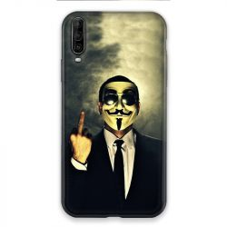 Coque pour Wiko View 4 Lite Anonymous doigt