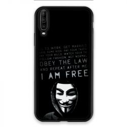 Coque pour Wiko View 4 Lite Anonymous I am free
