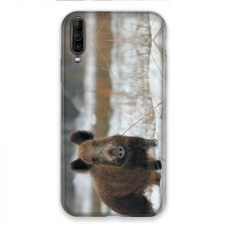 Coque pour Wiko View 4 Lite chasse sanglier Neige