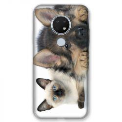 Coque pour Nokia Nokia 6.2 et Nokia 7.2 Chien vs chat