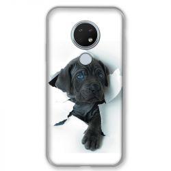 Coque pour Nokia Nokia 6.2 et Nokia 7.2 Chien noir