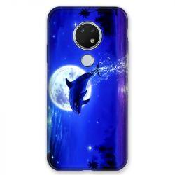Coque pour Nokia Nokia 6.2 et Nokia 7.2 Dauphin lune