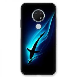 Coque pour Nokia Nokia 6.2 et Nokia 7.2 Requin Noir