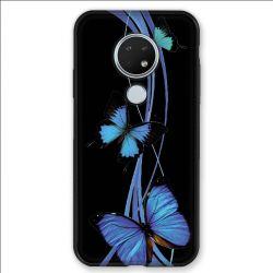 Coque pour Nokia Nokia 6.2 et Nokia 7.2 papillons bleu