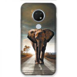 Coque pour Nokia Nokia 6.2 et Nokia 7.2 savane Elephant route
