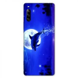 Coque pour Sony Xperia L4 Dauphin lune