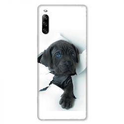 Coque pour Sony Xperia L4 Chien noir