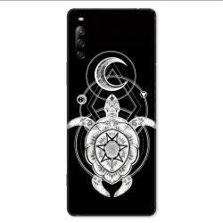 Coque pour Sony Xperia L4 Animaux Maori Tortue noir