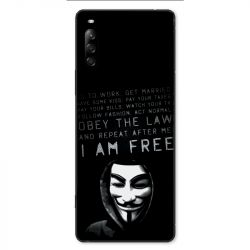 Coque pour Sony Xperia L4 Anonymous I am free