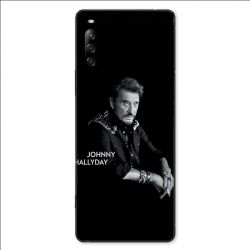 Coque pour Sony Xperia L4 Johnny Hallyday Noir
