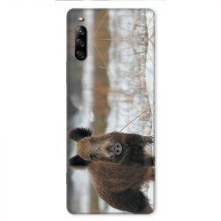 Coque pour Sony Xperia L4 chasse sanglier Neige