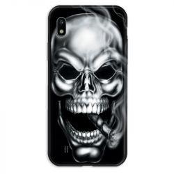 Coque pour Samsung Galaxy A10 tete de mort Fume