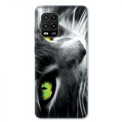 Coque pour Xiaomi Mi 10 Lite 5G - Chat Vert