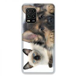 Coque pour Xiaomi Mi 10 Lite 5G - Chien vs chat