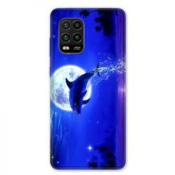 Coque pour Xiaomi Mi 10 Lite 5G - Dauphin lune