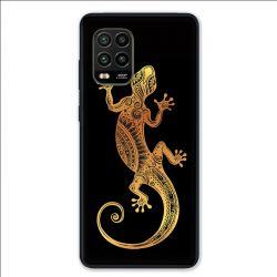 Coque pour Xiaomi Mi 10 Lite 5G - Animaux Maori lezard noir