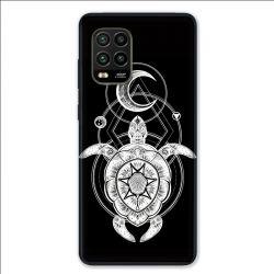 Coque pour Xiaomi Mi 10 Lite 5G - Animaux Maori Tortue noir