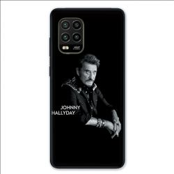 Coque pour Xiaomi Mi 10 Lite 5G - Johnny Hallyday Noir