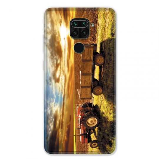 Coque pour Xiaomi Redmi Note 9 - Agriculture Tracteur color