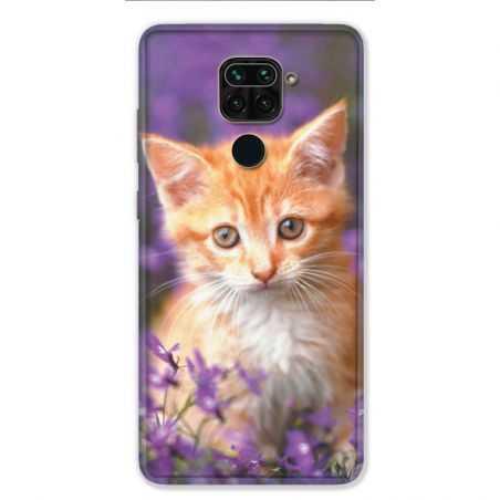 Coque pour Xiaomi Redmi Note 9 - Chat Violet