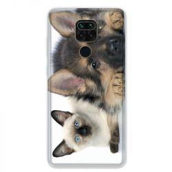Coque pour Xiaomi Redmi Note 9 - Chien vs chat