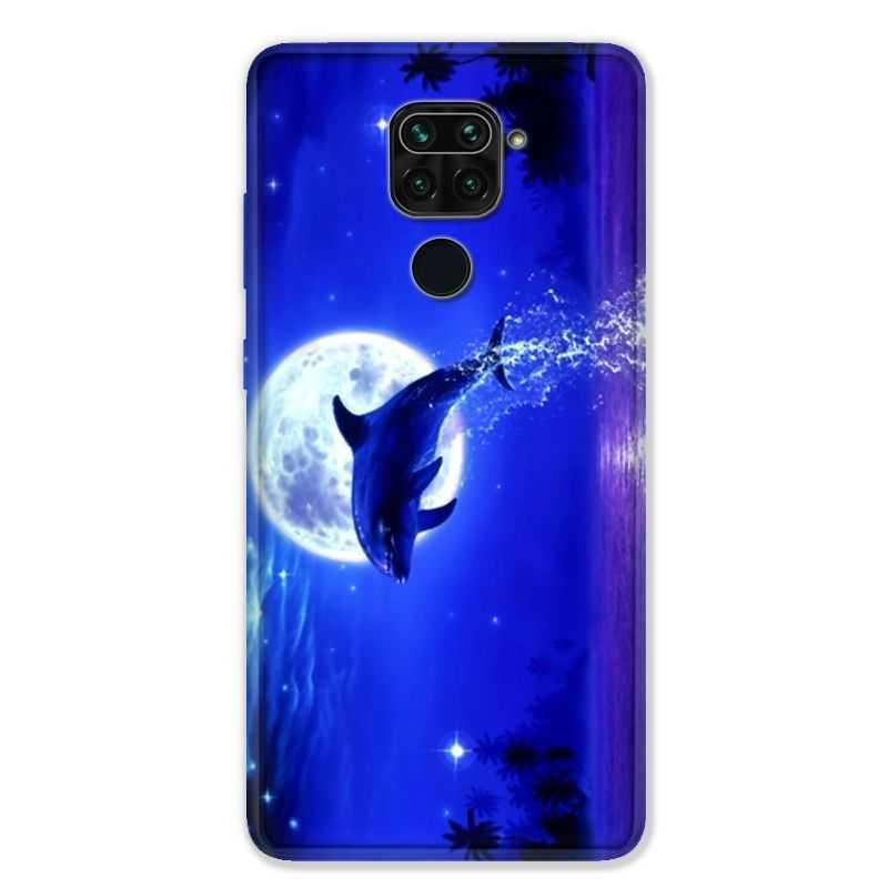 Coque pour Xiaomi Redmi Note 9 - Dauphin lune