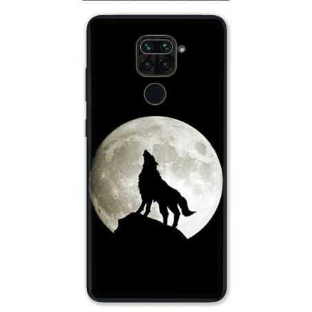 Coque pour Xiaomi Redmi Note 9 - Loup Noir