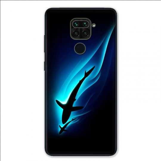 Coque pour Xiaomi Redmi Note 9 - Requin Noir