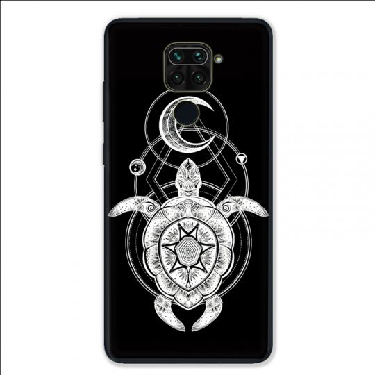 Coque pour Xiaomi Redmi Note 9 - Animaux Maori Tortue noir