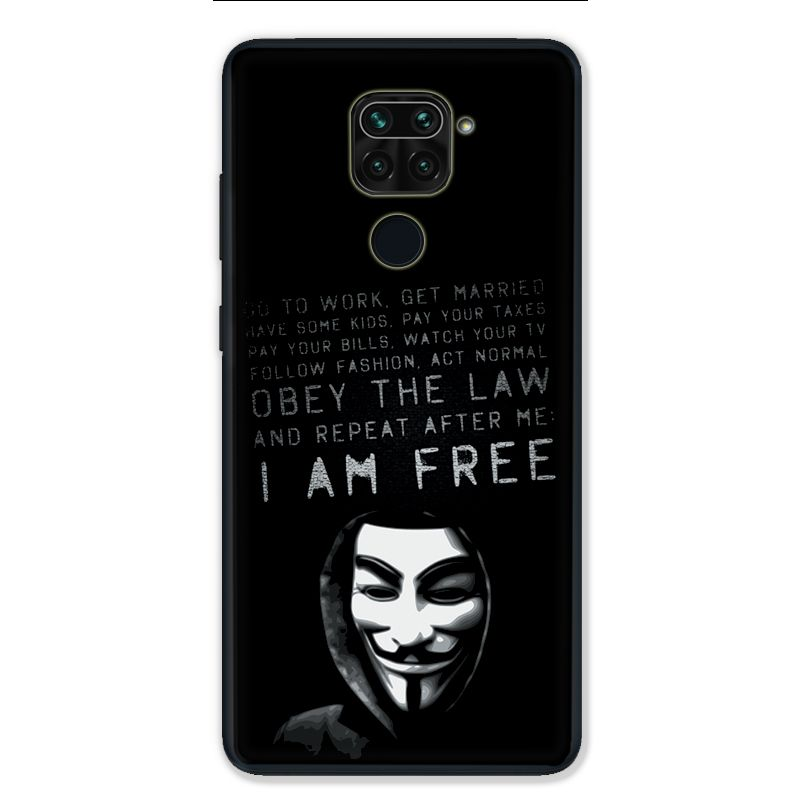 Coque pour Xiaomi Redmi Note 9 - Anonymous I am free
