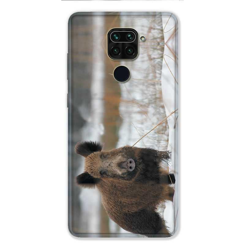 Coque pour Xiaomi Redmi Note 9 - chasse sanglier Neige
