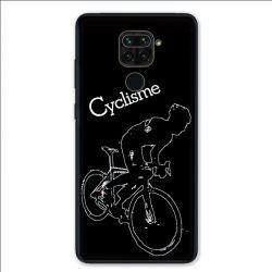 Coque pour Xiaomi Redmi Note 9 - Cyclisme Ombre blanche