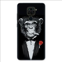Coque pour Xiaomi Redmi Note 9 - Decale Singe Mafia