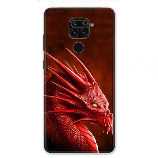 Coque pour Xiaomi Redmi Note 9 - Dragon Rouge
